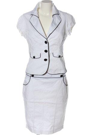 Kostium biały-czarny W stylu casual