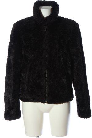 Giacca in eco pelliccia nero stile casual