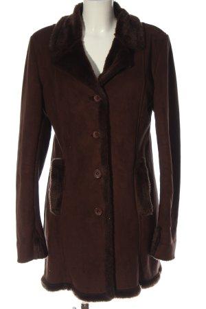 Fake Fur Coat red casual look