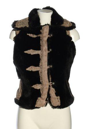 Jo Fashion Fake Fur Vest black-cream extravagant style