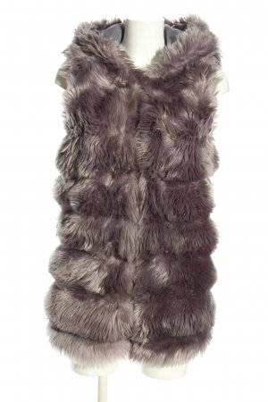 Fake Fur Vest light grey casual look
