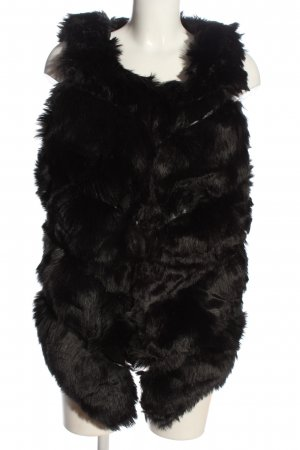 Fake Fur Vest black casual look