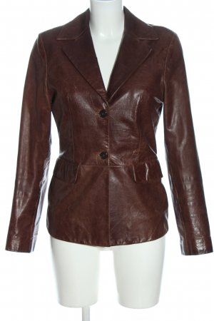 Faux Leather Jacket brown casual look