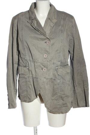 Blazer en jean gris clair style décontracté