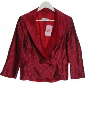 Vera Mont Kurz-Blazer rot-pink abstraktes Muster Glanz-Optik