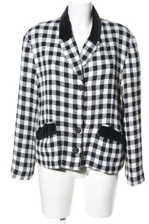 Kurz-Blazer weiß-schwarz Karomuster Business-Look