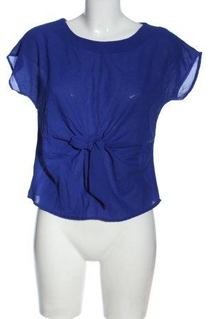 singwing Kurzarm-Bluse blau Casual-Look