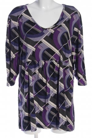 Kurzarm-Bluse Allover-Druck Casual-Look