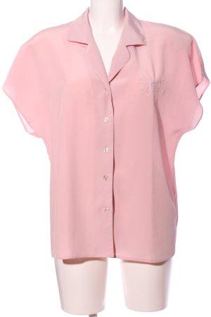 Erfa Camisa de manga corta rosa look casual