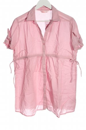 Chemise à manches courtes rose style décontracté