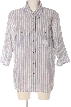 Avantgarde Shirt met korte mouwen geborduurde letters casual uitstraling