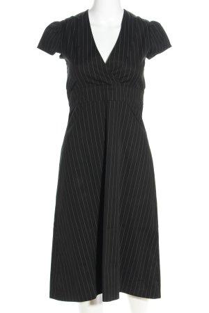 Kurzarmkleid schwarz-weiß Streifenmuster Business-Look