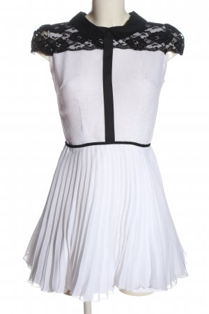 Jones & Jones Kurzarmkleid weiß-schwarz Elegant
