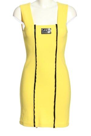 amora & fashion Minikleid blassgelb Streifenmuster Casual-Look
