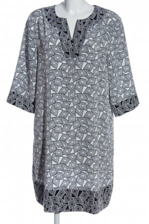 amiable Shortsleeve Dress white-black allover print casual look