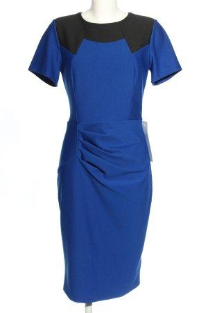 Kurzarmkleid blau-schwarz Business-Look