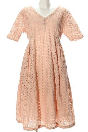 Rhum Raisin Kurzarmkleid pink grafisches Muster Casual-Look