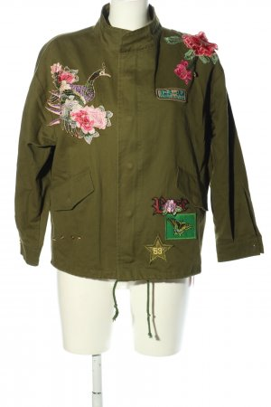 TSZC Kurzjacke khaki-pink Casual-Look