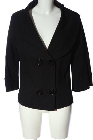 Cappotto corto nero stile professionale