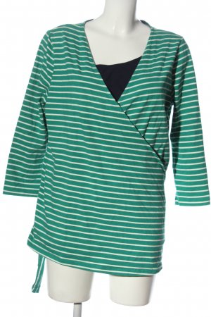 Wraparound Shirt striped pattern casual look