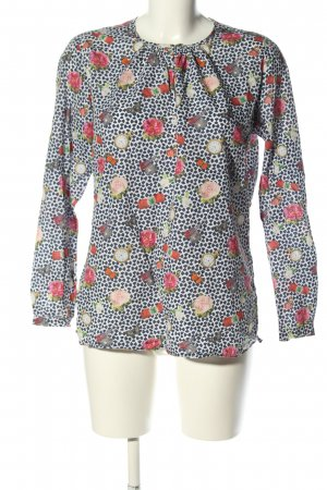 Langarm-Bluse Allover-Druck Casual-Look