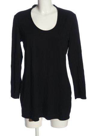 Longshirt schwarz Casual-Look