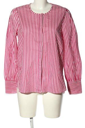 Blouse met lange mouwen roze-wit gestreept patroon casual uitstraling