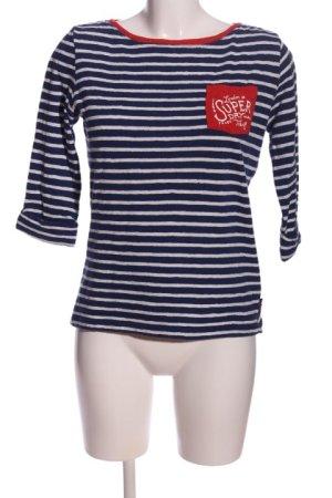 Langarm-Bluse blau-weiß Streifenmuster Casual-Look