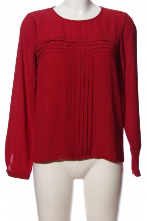 Langarm-Bluse rot Casual-Look