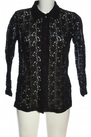 Lace Blouse black casual look