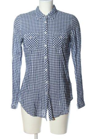 Pimkie Langarmhemd blau-weiß Allover-Druck Casual-Look