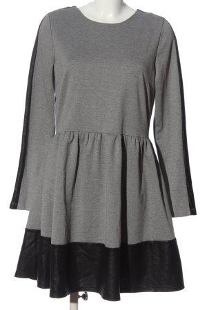 casual Longsleeve Dress light grey-black flecked business style