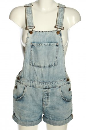 Dungarees blue casual look