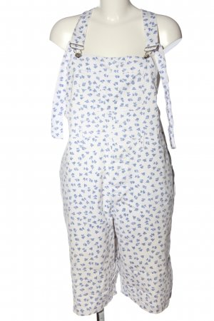 Movie Overall wit-blauw bloemenprint casual uitstraling