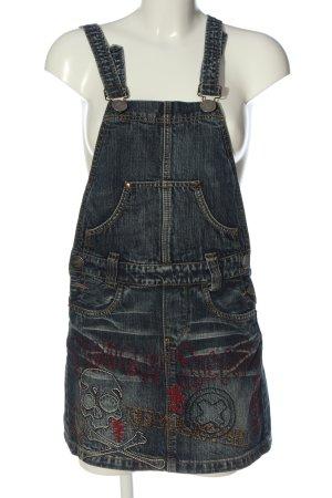 Overgooier overall rok blauw straat-mode uitstraling