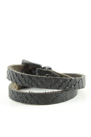 Leather Bracelet black allover print casual look