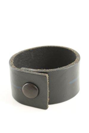 Bracelet en cuir gris clair style décontracté