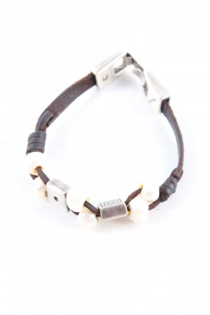 xauen Leather Bracelet brown-white casual look