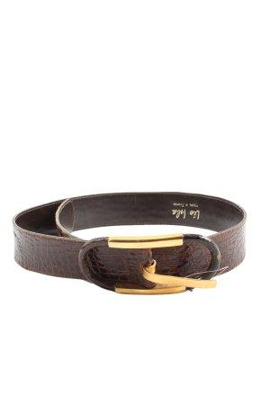 leo isla Cintura di pelle marrone stampa integrale stile casual