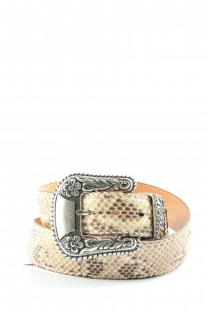 Leather Belt cream allover print casual look