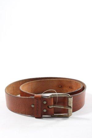 Cinturón de cuero marrón estilo «business»