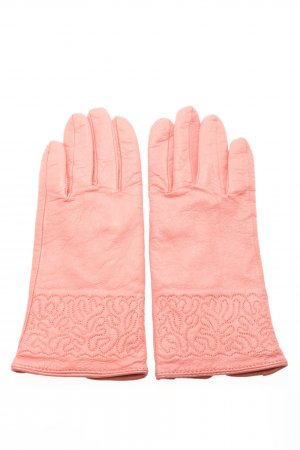 Wirex Guantes de cuero rosa look casual