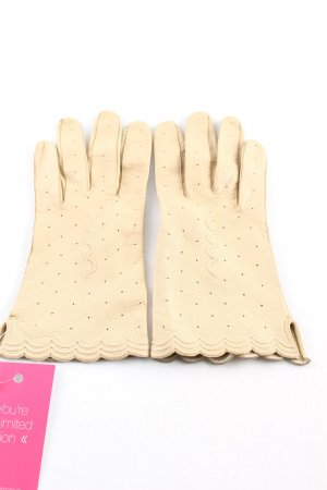 Leather Gloves cream casual look