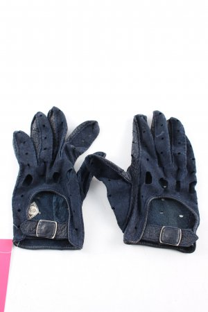 Leather Gloves blue casual look