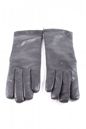 Leather Gloves black casual look