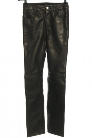 Deadwood Leather Trousers black casual look