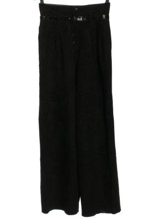 Pantalón de cuero negro estilo «business»