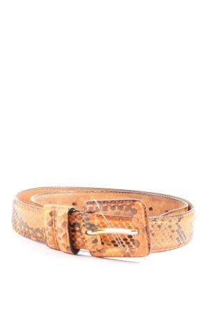 Cinturón de cuero de imitación naranja claro-color bronce look casual