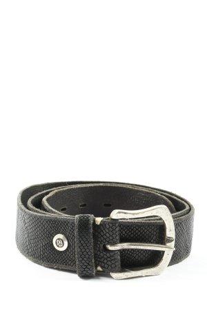 Cinturón de cuero de imitación negro look casual