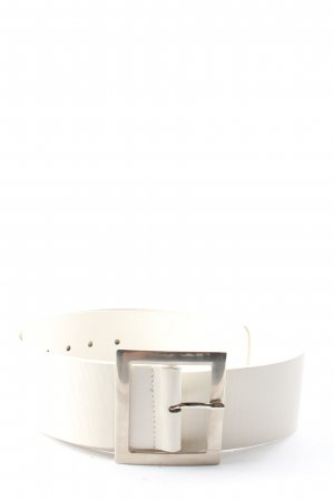 Faux Leather Belt white business style